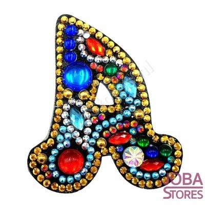 Diamond Painting Sleutelhanger Alfabet Letter A