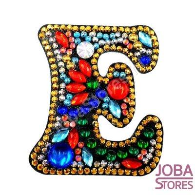 Diamond Painting Sleutelhanger Alfabet Letter E