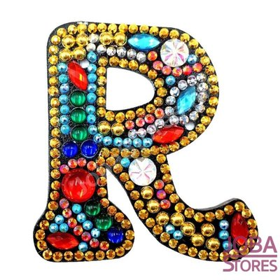 Diamond Painting Sleutelhanger Alfabet Letter R