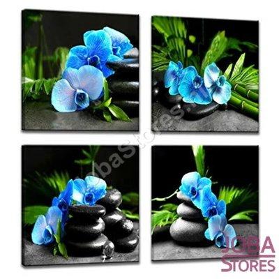 Diamond Painting Blauwe Orchidee 4 luiks