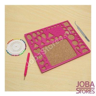 Papierkunst (Paper Quilling) Figuren Bord inclusief gereedschap (Roze)