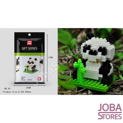 Nanoblocks Mini A3 Panda (94 delig)