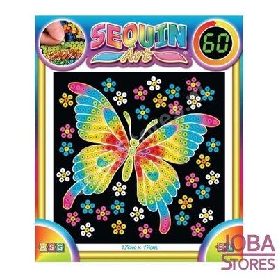 Sequin Art / Pailletten kunst Vlinder