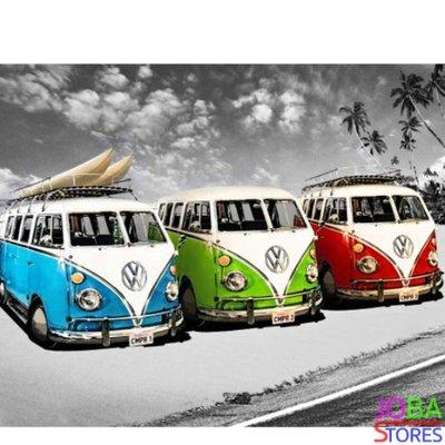 Diamond Painting Volkswagen Busjes 40x50cm - Rond