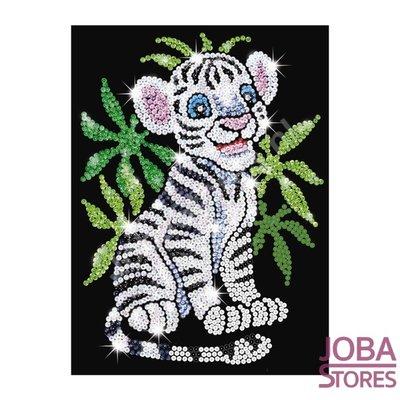Art de paillettes / Art de paillettes Tigre blanc