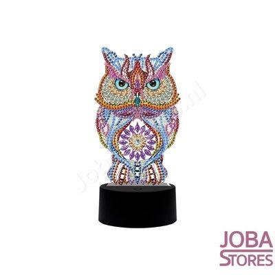 Diamond Painting Lampe Illusion 3D Hibou