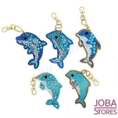 Diamond Painting Ensemble de porte-clés Dolphins (5 pièces)