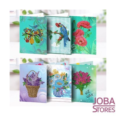 Diamond Painting Set de cartes de voeux Fleurs (6 pièces)