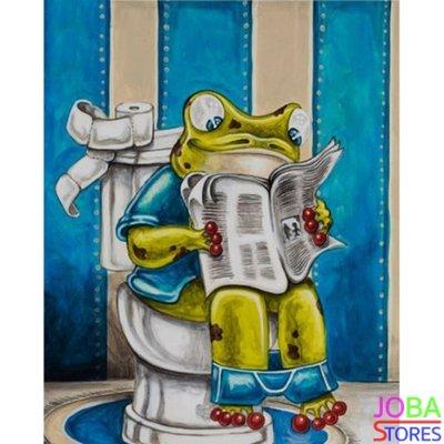 Diamond Painting Toilet Kikker 01 30x40cm (FULL)(rond)