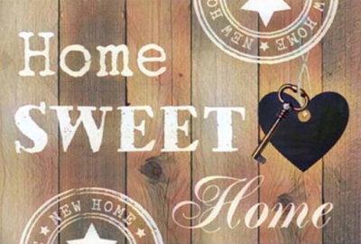 Diamond Painting Home Sweet Home 03 30x40cm