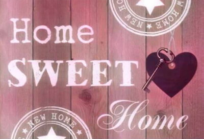Diamond Painting Home Sweet Home 05 30x40cm