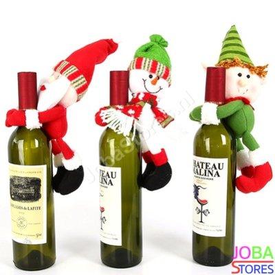 OP=OP Kerst Wijnfles Decoratie Set (3 stuks)