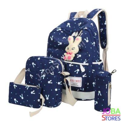 Schooltassen Set Bunny Donker Blauw (5-delig)