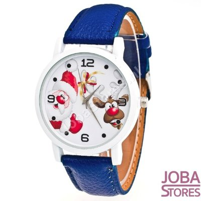 OP=OP Kerst Horloge 02 Blauw