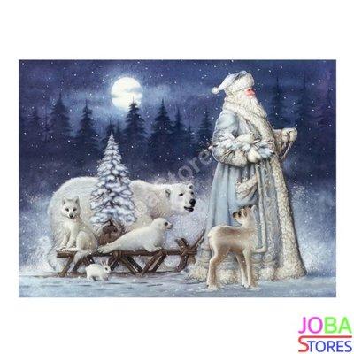 OP=OP Diamond Painting Kerstman met slee 40x50cm