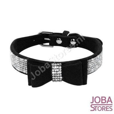 OP=OP Honden/Katten Halsband Bling met strik Zwart (M)
