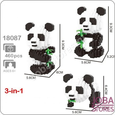 Nanoblocks Panda 3 in 1 (460 delig)