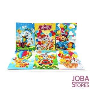 Diamond Painting Set de cartes de voeux dessin animé (6 pièces)