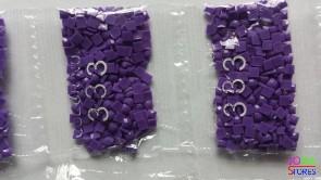 Nummer 333 vierkante steentjes (klein)