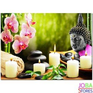 Diamond Painting Buddha Kaarsen 40x30cm