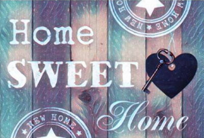 Diamond Painting Home Sweet Home 02 30x40cm